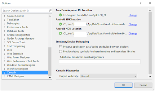 Locating Android SDK for Xamarin within Visual Studio - Luke Alderton